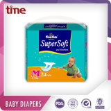 Pañal del bebé de la buena calidad de la fábrica del pañal del bebé del OEM con los propios del cliente escritura de la etiqueta