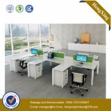 قعر سعر [ل] شكل مكتب طاولة اثنان مقادات مركز عمل ([هإكس-نج5023])