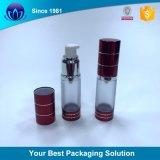 bottiglia senz'aria cosmetica della bottiglia 30ml della lozione dell'oro blu senz'aria quadrato della bottiglia