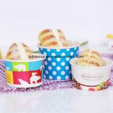 Tazón de helado, helados de vasos de papel 4oz 8oz.