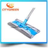 Preiswertes Preis-Polyester AluminiumMicrofiber flache Fußboden-Reinigungs-Mopps 100%