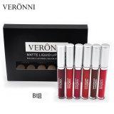 Горячие в продаже под торговой маркой Veronni матовая Lipgloss макияжа, 6PCS/Set водонепроницаемый жидкие помады комплект