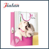 Papier couché Rose & Dog Saint Valentin Shopping Gift Paper Bag