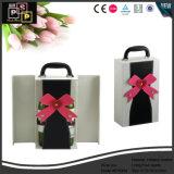 Promoción personalizada de embalaje del vino Vino de cuero Mostrar caja (5763)