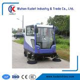 Электрическая щеточная машина на улице дороги щеточная машина с