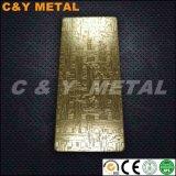 Decoratief het In reliëf maken van Roestvrij staal 304 Blad met het Goud van Champagne