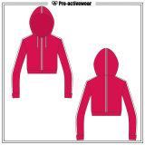防風のトレーニングの冬のコートの女性はHoodiesのジャケットをショートさせる
