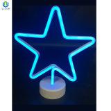 Estrela de neon de LED com Base