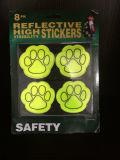 Etiqueta engomada reflexiva de la alta visibilidad de la luz fluorescente