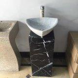 Горячий продавая продукты естественного белого мрамора пьедестал бассейна промыть камень в ванной комнате поглотителей