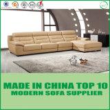 Modernes Wohnzimmer L Form-Ecken-echtes Leder-Sofa-Sets