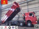 정면 드는 작풍 50ton Sinotruk HOWO 8X4 371HP 팁 주는 사람 또는 덤프 트럭
