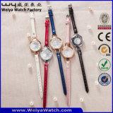 Reloj clásico ocasional de las señoras del cuarto de galón de la correa de cuero de la manera (Wy-063B)