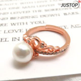 Classic 18K Pink Gold Plated Jewelry Rhinestones Finger Pearl Boxing rings