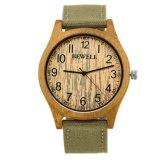 Horloge van de Luxe van de Manier van het Embleem van de douane het Promotie Goedkope Houten