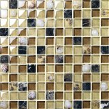 Mosaico de la mezcla de color de la diferencia del mosaico del vidrio cristalino del shell