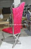 結婚式の宴会のホテルのための椅子を食事する贅沢な食堂の家具のステンレス鋼の家具