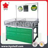 Aço Inoxidável de lado único rack de exibição de produtos hortícolas