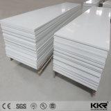 Material de pedra artificial branco superfície sólida de acrílico