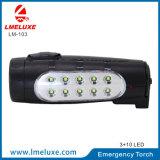 1つのPCSのスポットライトが付いているポータブル10 SMD LEDの再充電可能な緊急の懐中電燈