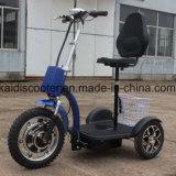 Bici elettrica facente un giro turistico elettrica pieghevole del veicolo 3-Wheel per gli handicappati