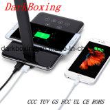 Nuevo Qi Wireless Cargador de teléfono móvil con Ce RoHS Lámpara de mesa de estudio no hay luz estroboscópica