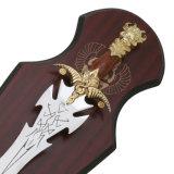 騎士剣表の装飾すべての金属のホーム装飾60cm HK352g