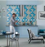 Gris claro 3X6 pulgadas/7,5x15cm brillante bisel de cerámica esmaltada pared mosaico Metro baño cocina Decoración