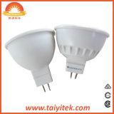 MR16 foco LED 5W 36 grados de aluminio de plástico+2700-6500K