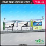 Muebles de exterior Acero inoxidable Estación de parada de autobús con publicidad Mupis