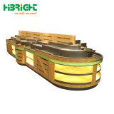 Het Rek van de Groente van het Fruit van de supermarkt 3 Lagen Opschorten het Van uitstekende kwaliteit van de Gondel