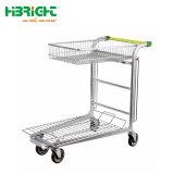 Vrachtwagen van het Platform van het Karretje van de Hand van het Metaal van de Kar van de Lading van de supermarkt de Plastic