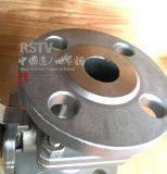 鋳造物のステンレス鋼のフランジの高いプラットホームの手動2PC球弁