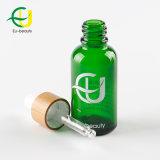 30 ml de aceite esencial de color verde botella con gotero de bambú