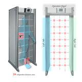 24 camminate di zone tramite il cancello del metal detector di uso del portello