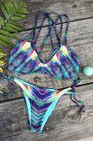 프랑스 삼각형 끈 비키니 고귀한 섹시한 여자 자수 수영복