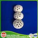 Bolas de cerámica porosa como catalizador de medios de apoyo