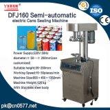Latas eléctricas semiautomáticas Dfj160 que sellan la máquina para las bebidas
