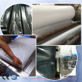 Bâche de protection ignifuge de PE de camion de couverture en plastique imperméable à l'eau de toiture de Black&Sliver