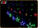 Van LEIDENE van de ster verkoopt Vorm 138 Hete het Licht Kerstmis van 12 Koorden 220V LEIDENE van de Vakantie Verlichting