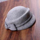 Verschiedener Farben-Wolle-Dame-Hut mit Bogen