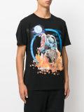 남자를 위한 주문 괴물 달 만화 인쇄 t-셔츠