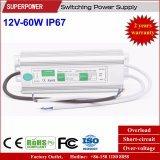 LED 운전사 일정한 전압 12V 60W LED 방수 엇바꾸기 전력 공급 IP67