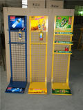 Große Metallfußboden-Stellung-Getränk-Bildschirmanzeige-Zahnstange für Supermarkt
