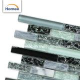 浴室のアプリケーションの光沢のある装飾的な台所壁のBacksplashガラスのモザイク