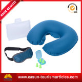 Flocados Ultralight Travel Pescoço inflável almofadas