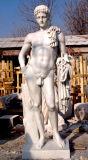 Hand geschnitzte weiße Marmorstatue für Dekoration (SK-2199)