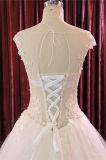 Transparenter Applique, der Kugel-Brautkleid-Hochzeits-Kleider bördelt