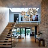 Escalier d'intérieur en bois solide avec la balustrade en verre Tempered
