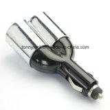 divisor del enchufe de la C.C. del adaptador de la potencia del divisor del alumbrador del cigarrillo de los socketes 12V 2
